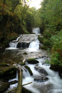 The falls in 'Watersmeet' Lynton & Lynmouth