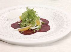 Recipe for Roasted Beet Salad with Orange Dressing from Chef Rudi Sodamin at Holland America Cruise Lines