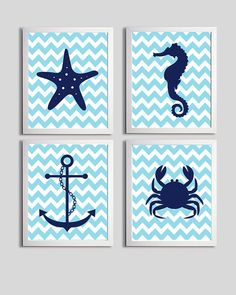 Items similar to Nursery Art Chevron Beach Ocean Sea Navy Sky more colors available set of 4 each on Etsy Nursery Twins, Baby Boy Nurseries, Silhouette Cutter, House Design Photos, Vinyl Decals, Wall Decals, Sea Theme, Silhouette Cameo Projects, Wine Bottle Crafts