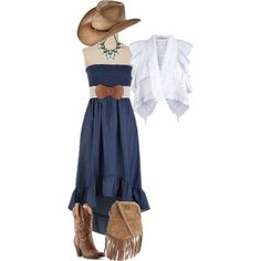 Cowgirl Blues, created by melinda tognetti-gouizi on Polyvore