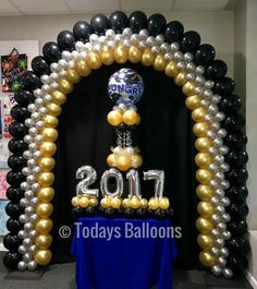 Balloon Gate, Ballon Arch, Balloon Columns, Graduation Balloons, Birthday Decorations, Balloons Galore, Christmas Balloons, Christian Crafts, Fathers Day Crafts