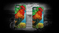 'In the Yard' by Sally Ford. #Guardian #Chicken #Hen #Rooster #iPhone #Cases #Art #Artmobilis