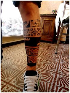 Maori Tribal Tattoo Designs Tips: Maori Tribal Tattoo Ideas For Men On Calf ~ Tattoo Design Inspiration