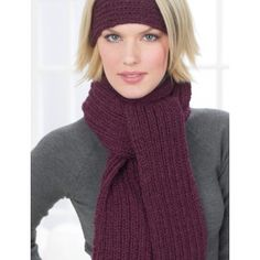 Ribbed Headband and Scarf