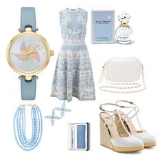 """""""Blue and beautiful"""" by beautybonanz on Polyvore featuring Kate Spade, Alexander McQueen, Charlotte Russe, Fendi, BaubleBar, Tiffany & Co., Marc Jacobs and Clinique"""