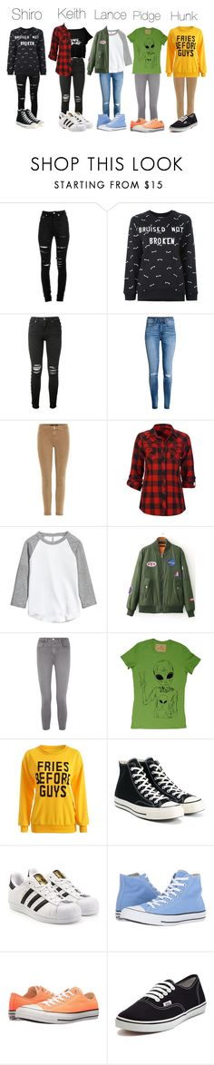 """""""Voltron RTD"""" by lazer-cookie ❤ liked on Polyvore featuring Yves Saint Laurent, Zoe Karssen, AMIRI, J Brand, Full Tilt, L'Agence, Converse, adidas Originals and Vans"""