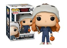 Stranger Things - Max in Michael Myers Costume Funko Pop! Stranger Things Funko Pop, Stranger Things Max, Pop Figures, Vinyl Figures, Michael Myers Costume, Geeks, Funko Pop Dolls, Funk Pop, Pop Toys