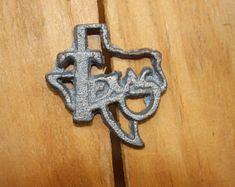"""13/"""" Rustic Iron Long Horn Steer 3 Stars Welcome Sign Plaque Door Western Decor"""