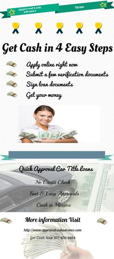 Approved Cash offers you a better and more cost-effective alternative to outrageous bank fees for bounced checks or the high cost of using credit cards for cash advances. More information Visit http://www.approvedcashadvance.com