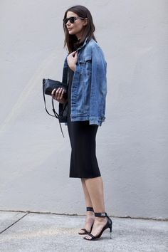 topped with a jean jacket = smart casual