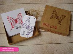 Miranda's Creaties - Vlindercadeautje: Doosje met kaartjes en labels