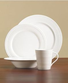 Lenox Dinnerware Tin Can Alley Collection - Casual Dinnerware - Dining u0026 Entertaining - Macyu0027s & Set 4/8 ROSCHER Fine Bone China Scalloped Beaded Hobnail SALAD ...