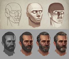 "Bram ""Boco"" Sels shows us how to develop the head of a character, including some awesome tips for creating hair, in Beginner's Guide to Digital Painting in Photoshop: Characters. Here's a brief glimpse of some of his WIPs!"