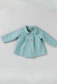 Abrigo de paño Azul  bebé - KuiniCollection