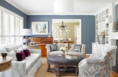 Grey living room with vintage decoration