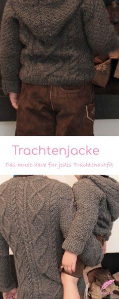 Selbst gestrickte Trachtenjacke! Das zeitlose Must-have für jedes Trachtenoutfit. Eine Trachtenjacke zu stricken lohnt sich. Seht selbst!