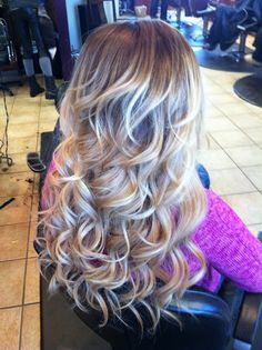 via blog.hairandmakeupbysteph.com -  blonde curls