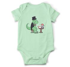Tea-Rex baby onesie, Dinosaur baby bodysuit, Funny baby clothes, Baby shower gift by OldCauldronGifts on Etsy