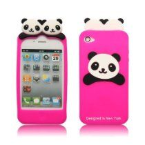 Cute Panda Silicon Case for #iPhone 4/4S