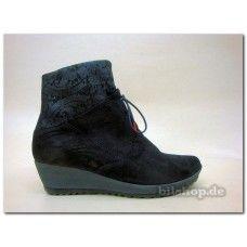 """004 Damen Pumps-Stiefeletten """"AMAY"""" Obermaterial: Calf/Nubuk/Effekt Farbe: schwarz-kombi Futter: Textil 80%Polyesther 20% Wolle Innensohle: wechselbar, pflanzlich gegerbtes Leder Laufsohle: Latex Schnüren+Reißverschluss Absatzhöhe: ca 40 mm Keilabsatz Der Schuh ist für lose Einlagen geeignet ! The inner sole is replaceable The shoes are suitable for orthopedic soles #THINK!  #DamenStiefeletten  #damenSchuhe #Stiefeletten #Womens_shoes, #Quality_shoes, #Comfortable_shoes"""