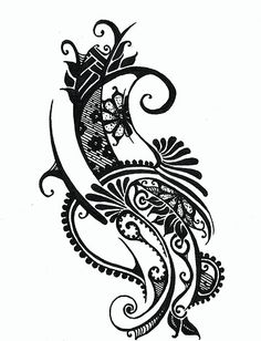 Holly A. Art, black ink drawing