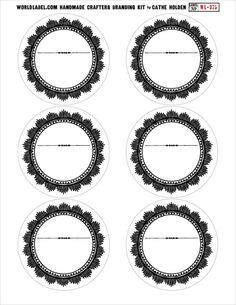 Invaluable image within circle printable labels