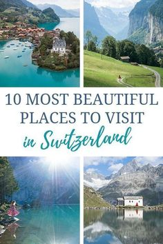 Searching for the most beautiful places in Switzerland? These are the MUST-SEE destinations and where to stay in each spot! #TransportHappiness