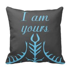 """I am yours""– Fenris (Dragon age 2) pillow This pillow features Fenris' tattoos and the quote that let's you know that he loves Hawke. He is my favorite DA romance :)"