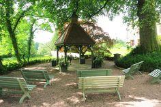 Outdoor ceremony under the Old Dovecote - Huntsham Court