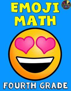 5th Grade Emoji Math   Emoji, Math and Worksheets