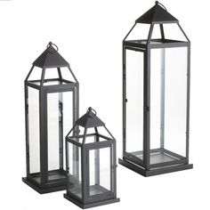 Black Metal Lanterns  I'm going to get some of these and decorate them for use at Christmas  www.pier1.com
