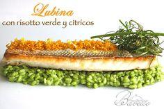 Lubina con risotto verde y cítricosBavette | Bavette