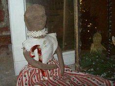 christmas doll www.rabbithillprimitives.com