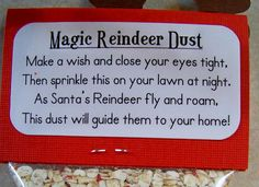 Reindeer Dust- Preschool class used oatmeal and glitter. Christmas Activities, Christmas Projects, Christmas Traditions, Christmas Themes, Christmas Decorations, Reindeer Dust, Reindeer Food, Winter Fun, Winter Christmas