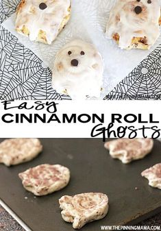 This easy Halloween breakfast can be whipped up in minutes with Cinnamon rolls! This easy Halloween breakfast can be whipped up in minutes with Cinnamon rolls! Halloween Breakfast, Halloween Snacks For Kids, Fall Breakfast, Halloween Dinner, Halloween Desserts, Halloween Food For Party, Breakfast For Kids, Halloween Treats, Holiday Treats