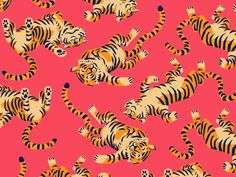 Tiger Nap designed by Chad Gowey for Blindtiger Design. Connect with them on Dribbble; the global community for designers and creative professionals. Tiger Wallpaper, Mac Wallpaper, Laptop Wallpaper, Wallpaper Backgrounds, Screen Wallpaper, Wallpaper Quotes, Pattern Art, Print Patterns, Tiger Art