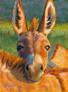 Rita Kirkman's Daily Paintings: Peek-a-Burro