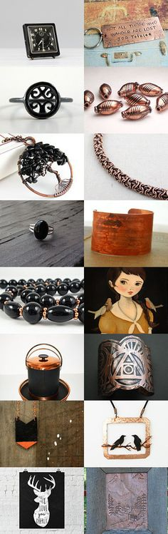 black   copper by bekkaleetrapp on Etsy--Pinned with TreasuryPin.com