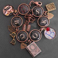 Heart Books Bracelet Book Charm Literary Jewelry by ALikelyStory, $37.95