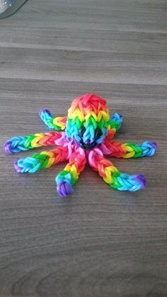 Rainbow Loom Octopus 3D