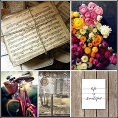 Scrap Around The World: November 2014 Challenge 19 A Rich, Vintage Mood Board by Zuzia Bodakowska