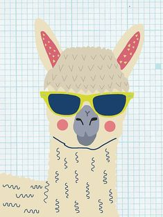 Alpaca by Nicole Wilson Alpaca, Llama, Animal, Nature, Cute, Illustration, Design, Decor, Street Art, Kid, Children, Children's Room, Kid's Room, Pattern, Pop Art, Unique, Quirky, Funny, Vector, Cool, Hip, Hipster