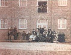 Workers at the Thomas Kay Woolen Mill, circa 1900.