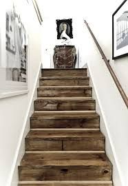 Inspiration to go white GORGEOUS reclaimed barn wood stairs.I love the look of stark white agains a knotted, brown wood in a distressed nature. Post on all different ways to use reclaimed barn wood or recycled wood in your home decor. Style At Home, Staircase Design, Wood Staircase, Staircase Ideas, Stair Idea, Wood Railing, Stair Design, Wood Design, Hardwood Stairs