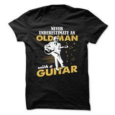 nerver old man guitar - Hot Trend T-shirts