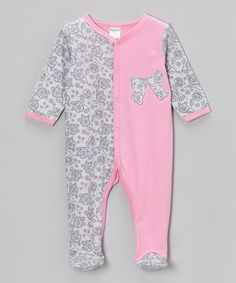Take+a+look+at+the+Babyworks+Pink+Bow+Footie+on+#zulily+today!