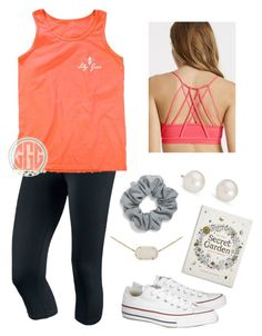 """""""January 31st and this is what I'm wearing today"""" by vineyard-vines-love ❤ liked on Polyvore featuring NIKE, Converse, Fabletics, Natasha Couture, Kendra Scott, Blue Nile, Chronicle Books, women's clothing, women and female"""