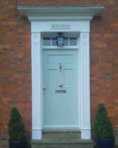 Farrow and Ball Theresa Green front door: Click through for Farrow and Ball's Top 15 Panted Front Doors on Modern Country Style
