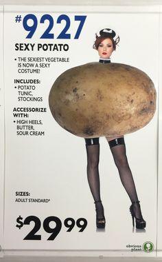 "beerburritowhiskey: ""papermagazine: "" The sexy potato Halloween costume of your dreams + more in today's Sunday Funnies "" @apotatoblog """