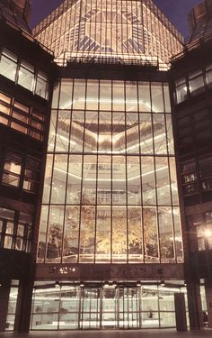 #extint #exterior #glazed #facade #lehman #brothers #gold #luxury #trees #planting #linear #symmetrical